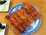 ホワイト餃子 四角い餃子焼きで焼いた物