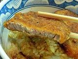 福井のソースカツ丼。駅前で早い安いうまかった小川家。