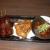 千代保稲荷でどて煮と味噌かつ。味噌がすこし甘さ控えめ。