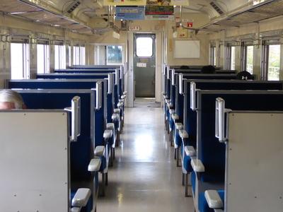 北海道の列車内