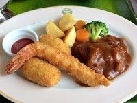 明治の洋食 & カレーセットの洋食プレート 五島軒