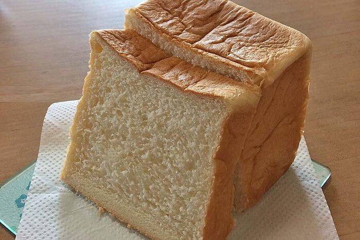 高級生食パン乃がみ ハーフサイズ(1斤)をスライスしたところ