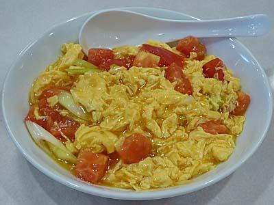 トマトの卵炒め 味仙