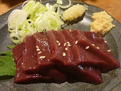 牛レバー刺し 食べ納め 車橋もつ肉店 横浜