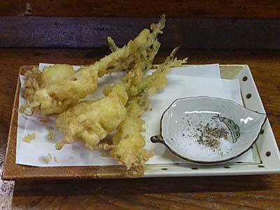 芽子にんにくの天ぷら いわき 福島