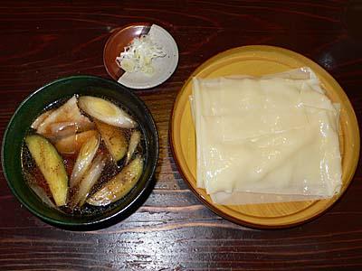 桐生 ふる川 ひもかわ 肉茄子付け麺