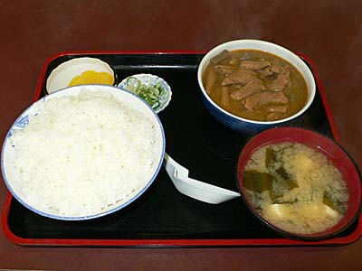 渋川 群馬 永井食堂 モツ煮定食
