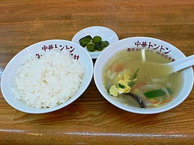 中華トントン 餃子セット ライスとスープ