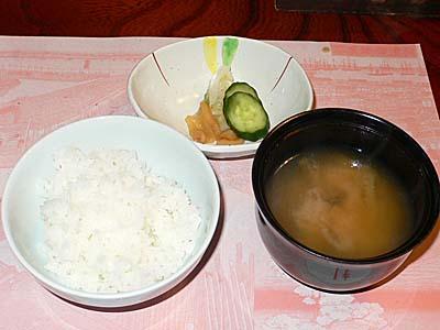 荒井屋 ご飯と味噌汁